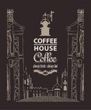 男服务员热奶咖啡咖啡馆准备 图库摄影