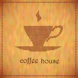 男服务员热奶咖啡咖啡馆准备 免版税库存图片