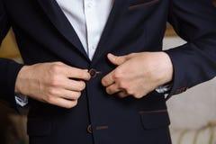 男服夹克 事务的概念 库存照片