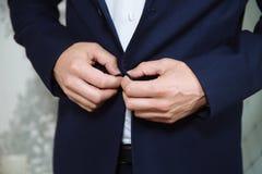 男服夹克 事务的概念 免版税库存图片
