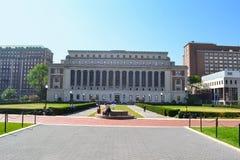 男管家图书馆哥伦比亚大学纽约 免版税图库摄影