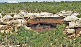 男管家洗涤Anasazi废墟 库存图片
