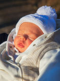 男婴为新鲜空气 免版税库存照片