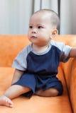 男婴儿童车覆盖illusytration星期日 免版税库存照片