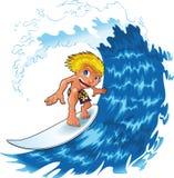 男婴冲浪 免版税库存图片