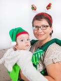 男婴和妈妈 免版税库存照片