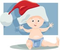 男婴圣诞老人动画片例证 库存照片
