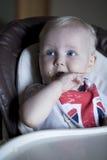 男婴在家 库存照片
