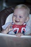 男婴在家 免版税库存图片