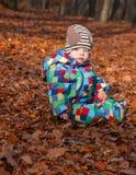 男婴在森林 库存图片