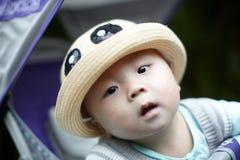 男婴帽子 库存照片