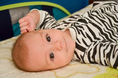 男婴微笑 库存图片