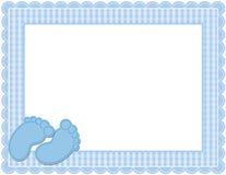 男婴方格花布框架 库存图片