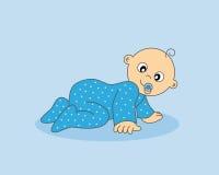 男婴爬行 免版税图库摄影