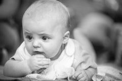 男婴爬行 免版税库存照片