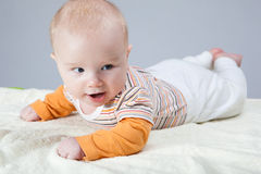 男婴纵向 免版税库存照片