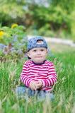 男婴画象在夏天 图库摄影
