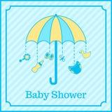 男婴阵雨邀请 免版税图库摄影
