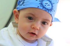 男婴头巾佩带 免版税库存照片