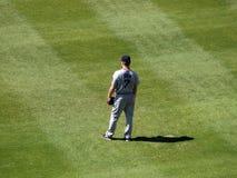 画了jd外野外野手Red Sox立场 免版税库存照片