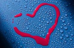 画在心脏形状玻璃表面上的 摘要 背景 特写镜头 库存图片
