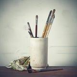 画家工具 库存照片