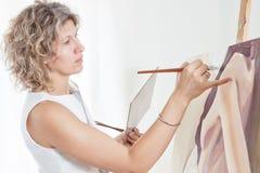 画家油漆 库存图片