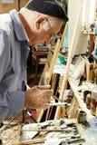画家藏品油漆管 免版税库存照片