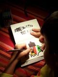 画家年轻人 免版税图库摄影