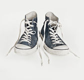 画布减速火箭的鞋子 免版税库存照片
