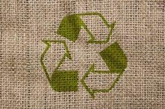 画布回收概略的符号 免版税库存图片