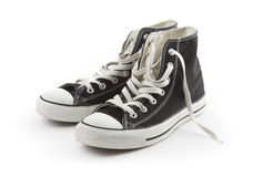 画布查出的对运动鞋 库存图片