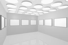 画廊内部现代照片 库存图片