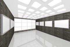 画廊内部现代照片 免版税库存图片