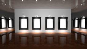 画廊墙壁 库存照片