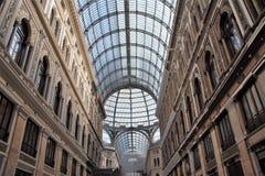 画廊翁贝托在那不勒斯 免版税库存图片