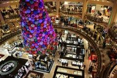 画廊la fayette的百货商店,在巴黎的中心 2018年12月 图库摄影