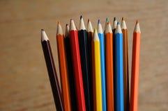 画的各种各样的颜色铅笔 免版税图库摄影