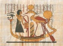 画的埃及人 库存照片