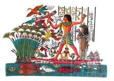 画的埃及人 免版税库存图片