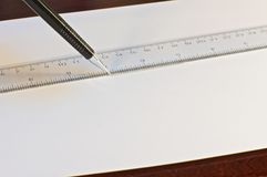 画的机械铅笔 免版税库存照片