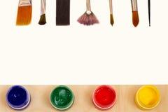 画的纸与油漆 库存照片