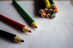 画的铅笔 免版税图库摄影
