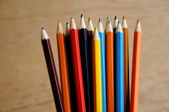 画的颜色铅笔在纸 图库摄影