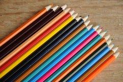 画的颜色铅笔在PAP 库存图片