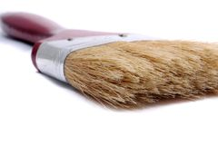 画笔干净的油漆 免版税图库摄影