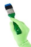 画笔手套现有量藏品油漆 免版税库存照片