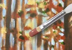 画笔本质油漆木绘画的结构树 免版税库存照片