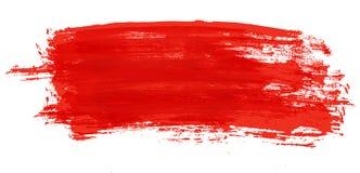 画笔油漆红色冲程 向量例证