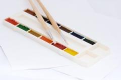 画笔油漆 图库摄影